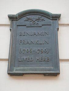 Benjamin Franklin House near Trafalgar Square